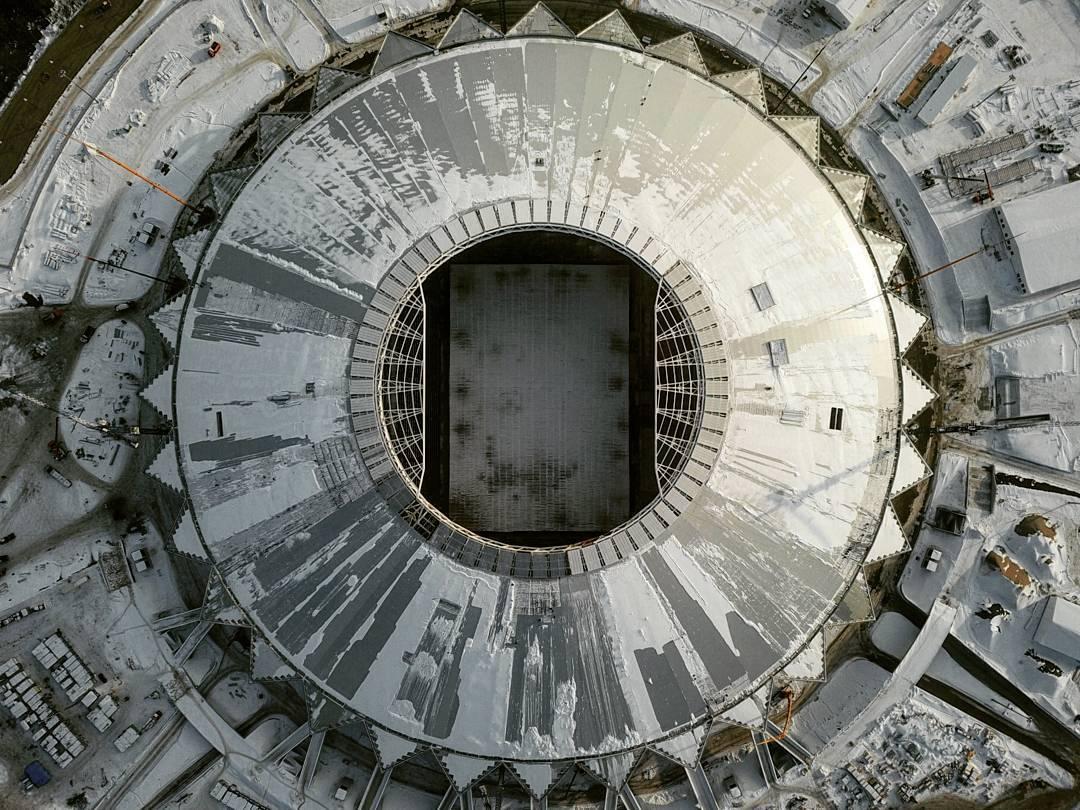 Самарская арена, вид сверху